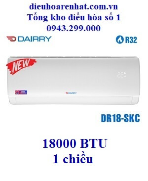 Điều hòa Dairry 18000 BTU 1 chiều DR18-SKC