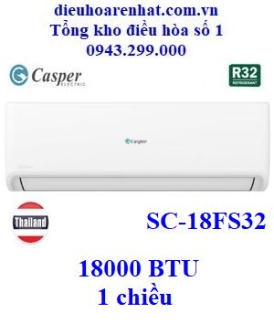 Điều hòa Casper 1 chiều 18000BTU SC-18FS32