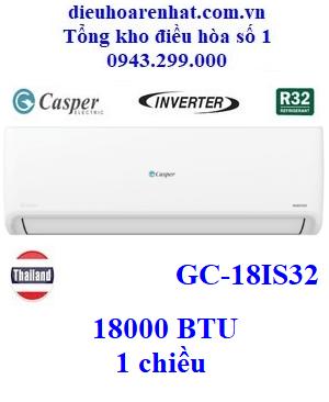 Điều hòa Casper 1 chiều 18000BTU inverter GC-18IS32