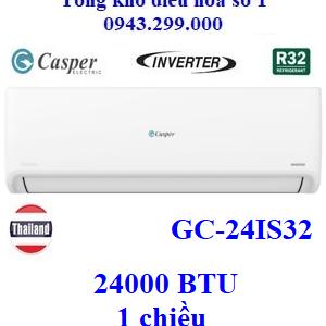 Điều hòa Casper 1 chiều 24000BTU inverter GC-24IS32