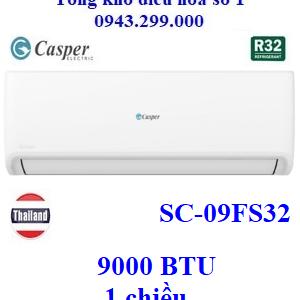 Điều hòa Casper 1 chiều 9000 BTU SC-09FS32