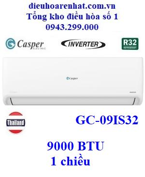 Điều hòa Casper inverter 1 chiều 9000 BTU GC-09IS32