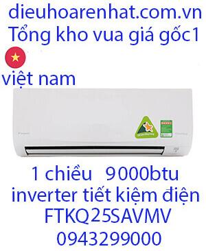 Điều hòa Daikin FTKQ25SAVMV 9000Btu, 1 chiều inverter VUA GIÁ GỐC