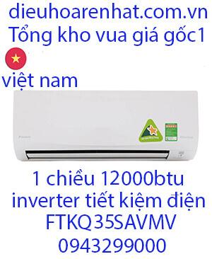 Điều hòa Daikin FTKQ35SAVMV 12000Btu 1 chiều inverter-VUA GIÁ GỐC