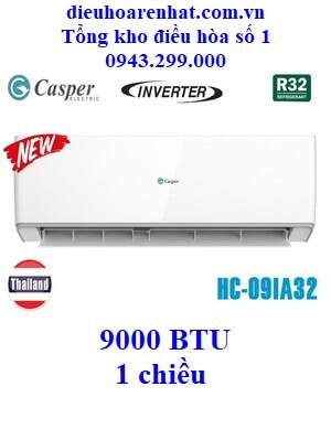 Điều hòa Casper 1 chiều Inverter HC-09IA32 9000 BTU