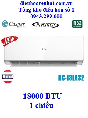 Điều hòa Casper 1 chiều Inverter HC-18IA32 18000 BTU