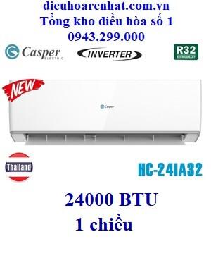 Điều hòa Casper 1 chiều Inverter HC-24IA32 24000 BTU