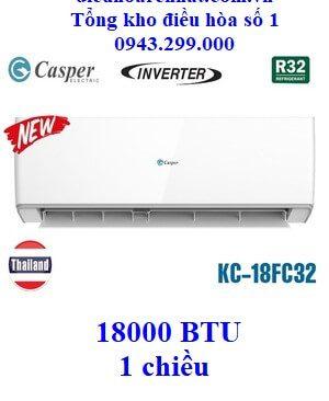 Điều hòa Casper 1 chiều Inverter KC-18FC32 18000 BTU