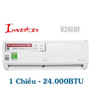 LG V24ENF Điều hòa LG 24000btu inverter 1 chiều-Vua giá Gốc