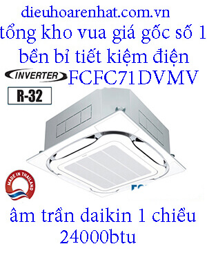 Điều hòa âm trần Daikin 24.000BTU inverter 1 chiều FCFC71DVM.1