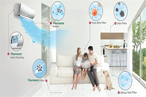 tính năng điều hòa LG tiết kiệm điện ,lạnh sâu , đuổi muỗi