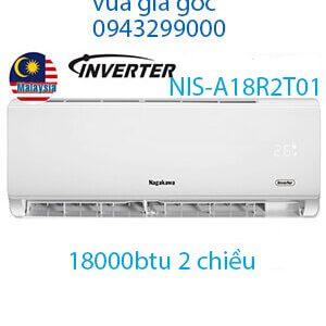 Điều hòa Nagakawa 18000BTU 2 chiều inverter NIS-A18R2T01-VUA GIÁ GỐC