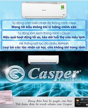 Điều hòa casper inverter tiết kiệm điện