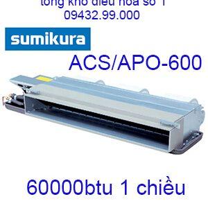 Điều hòa nối ống gió Sumikura 1 chiều 60.000Btu ACS/APO-600