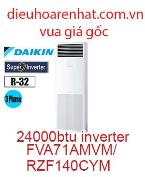 Điều hòa tủ đứng Daikin 24000btu 3 Pha FVA71AMVM-RZF71CYM