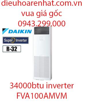 Điều hòa tủ đứng Daikin inverter 34000BTU FVA100AMVM