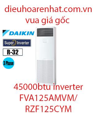 Điều hòa tủ đứng Daikin inverter 45000BTU 3 Pha FVA125AMVM