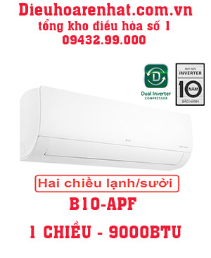 Điều hòa LG 9000btu 2 chiều inverter B10APF vua giá gốc