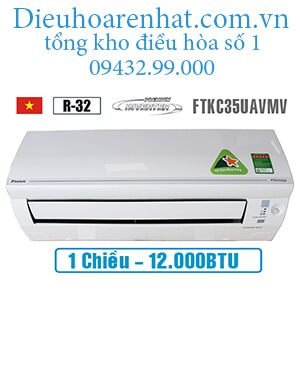 Điều hòa Daikin 1 chiều inverter 12000btu FTKC35UAVMV