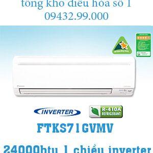 Điều hòa Daikin 1 chiều inverter 24000btu FTKS71GVMV
