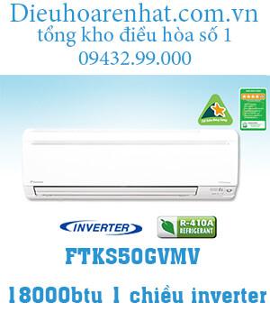 Điều hòa Daikin 1 chiều inverter 18000btu FTKS50GVMV