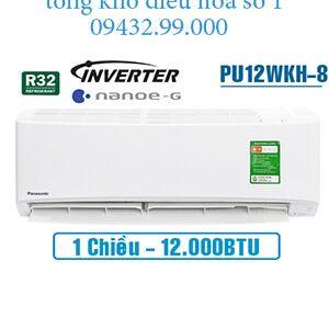 Điều hòa panasonic 1 chiều 12000btu inverter PU12WKH-8 vua giá gốc