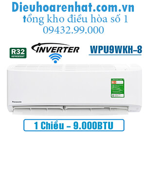 Điều hòa panasonic 1 chiều 9000btu inverter wifi WPU9WKH-8