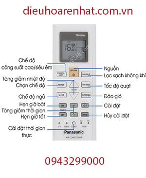 Cách hẹn giờ điều hòa Panasonic inverter