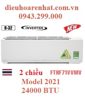 Điều hòa Daikin 2 chiều 24000BTU inverter FTHF71VVMV