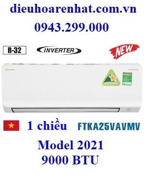 Điều hòa Daikin 9000 BTU 1 chiều inverter FTKA25VAVMV