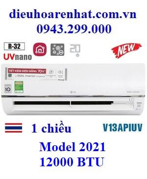 Điều hòa LG 12000BTU 1 chiều inverter UV Nano V13APIUV