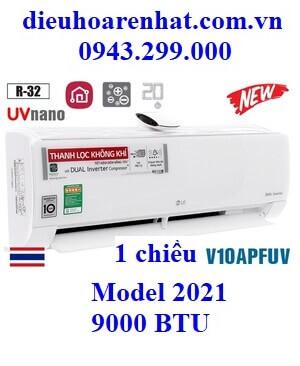 Điều hòa LG inverter 9000BTU 1 chiều UVnano V10APFUV