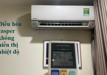 Điều hòa casper không hiển thị nhiệt độ