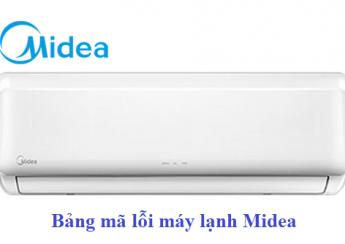Bảng mã lỗi máy lạnh Midea