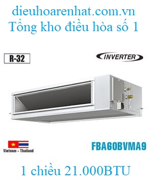 Điều hòa nối ống gió Daikin 21000BTU inverter 1 chiều FBA60BVMA9/RZF60CV2V