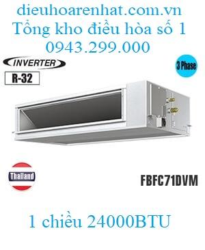Điều hòa nối ống gió Daikin 24.000BTU inverter 1 chiều 3 pha FBFC71DVM/RZFC71DY1