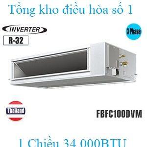 Điều hòa nối ống gió Daikin 34.000BTU inverter 1 chiều 3 pha FBFC100DVM/RZFC100DY1