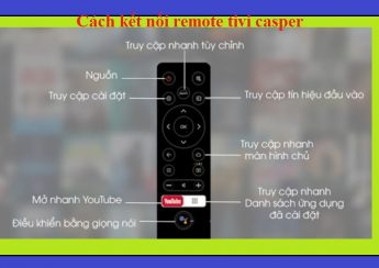 Cách kết nối remote tivi casper