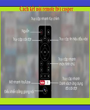 Chức năng trên điều khiển tivi casper