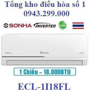 Điều hòa Ecool inverter 18000BTU 1 chiều ECL-1I18FL