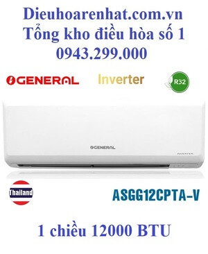 Điều hòa General 12000BTU 1 chiều inverter ASGG12CPTA-V