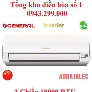 Điều hòa General 18000BTU 2 chiều inverter ASHA18LEC