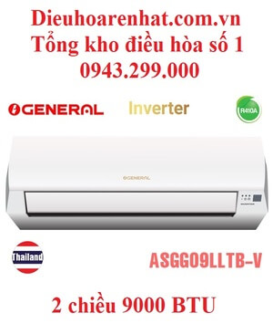 Điều hòa General 9000BTU 2 chiều inverter ASGG09LLTB-V