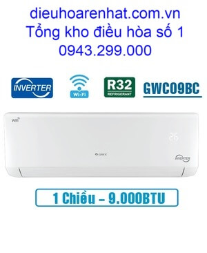 Điều hòa Gree inverter 1 chiều 9.000BTU GWC09BC-K6DNA1B