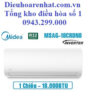 Điều hòa Midea inverter 18000BTU 1 chiều MSAG-18CRDN8