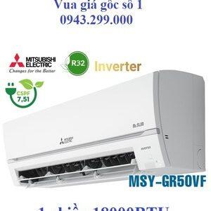 Điều hòa Mitsubishi Electric 18000BTU 1 chiều inverter MSY-GR50VF