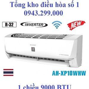 Điều hòa Sharp 1 chiều inverter 9000BTU AH-XP10WHW