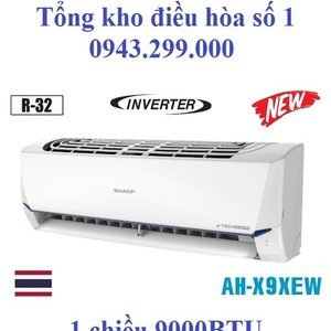 Điều hòa Sharp inverter 9000 BTU 1 chiều AH-X9XEW