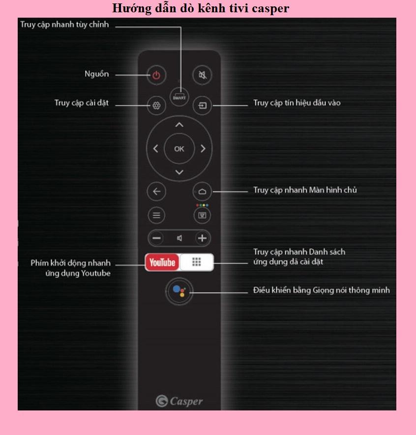 Hướng dẫn dò kênh tivi casper