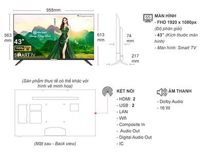 Tivi Casper 43 inch 43FX6200 Linux OS Full HD